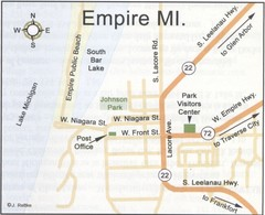 Empire Michigan Map