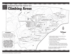 Enchanted Rock, Texas State Park Climbing Map