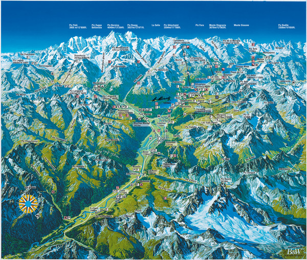 Engadin St. Moritz Region Summer Map