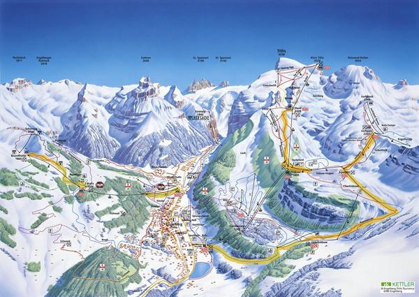 Engelberg Titlis Ski Trail Map Titlis Engelberg Switzerland mappery