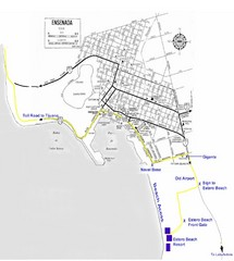 Ensenada, Mexico Beach Tourist Map