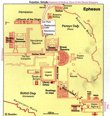 Ephesus, Turkey Map