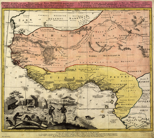 Erben's Map of Western Africa (1743)