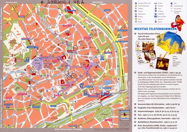 Erfurt Tourist Map Erfurt Germany mappery