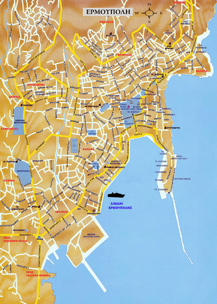 Andros Island Tourist Map Andros Island Greece mappery
