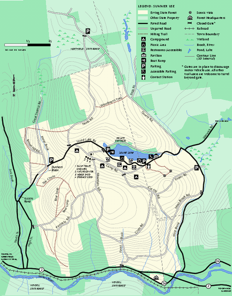 Erving Summer trail map