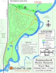 Espenscheid Forest Preserve Map