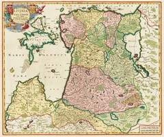Estonia 1705 Map
