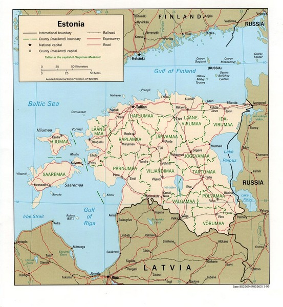 Estonia Country Map