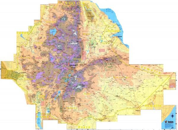 Ethiopia Elevation Map Ethiopia Mappery - Ethiopia map