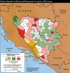 Ethnic Majorities in Bosnia and Herzegovina Map