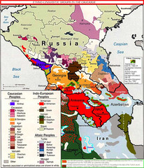 Ethno-Linguistic Groups in the Caucasus Map
