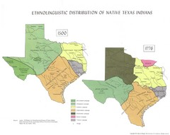 Ethnolinguistic Distribution of Native Texas...