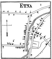 Etna 1897 City Map
