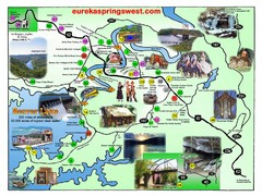 Eureka Springs West Tourist Map