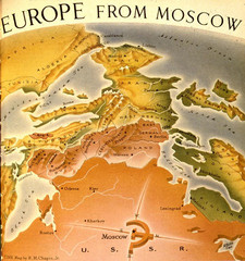 Europe From Moscow (in 1952) Map
