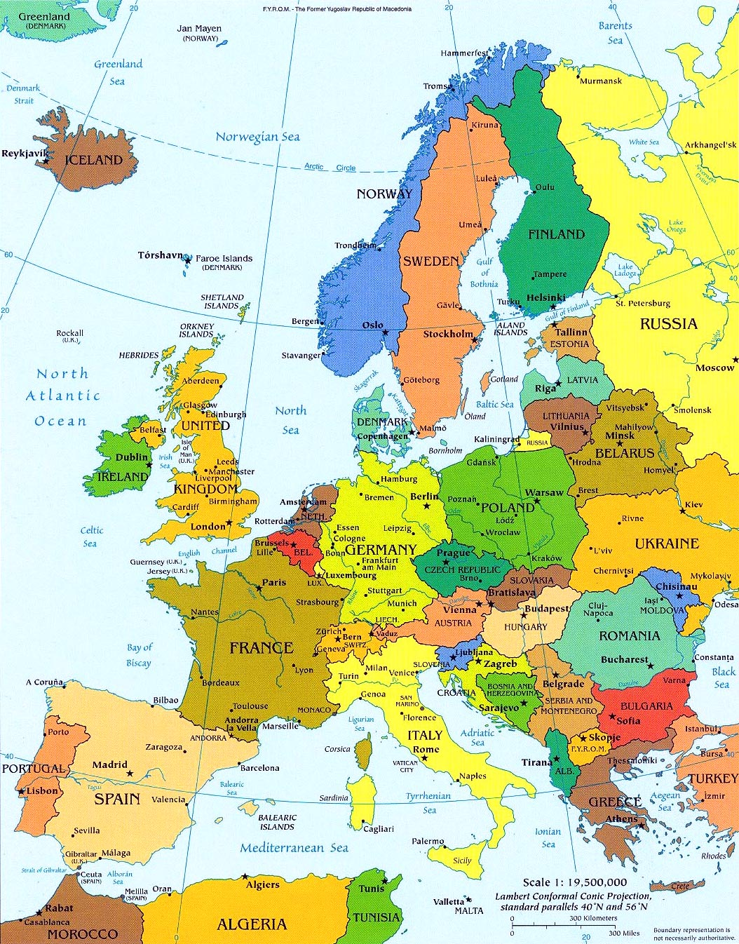 Europe Political Map Europe Mappery
