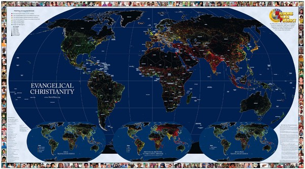 Evangelical Christianity World Map