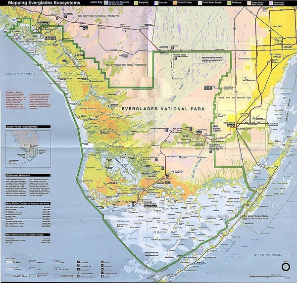 Florida Everglades Map.Everglades National Park Map Florida Everglades National Park