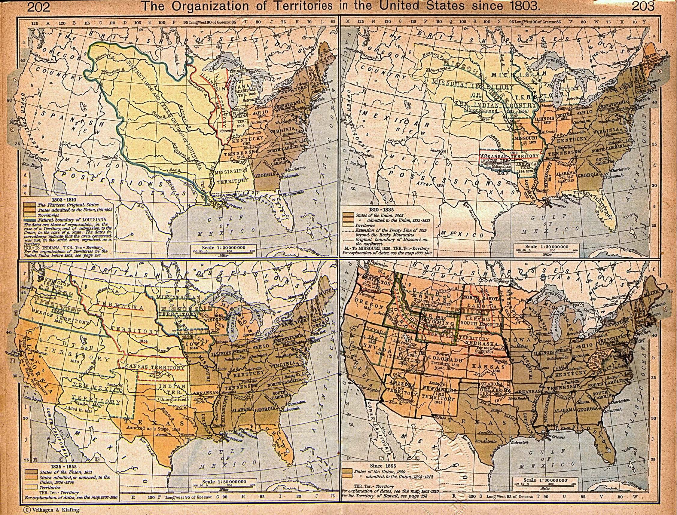 Expansion Of United States Territory From 1803 Historical Map United States Mappery