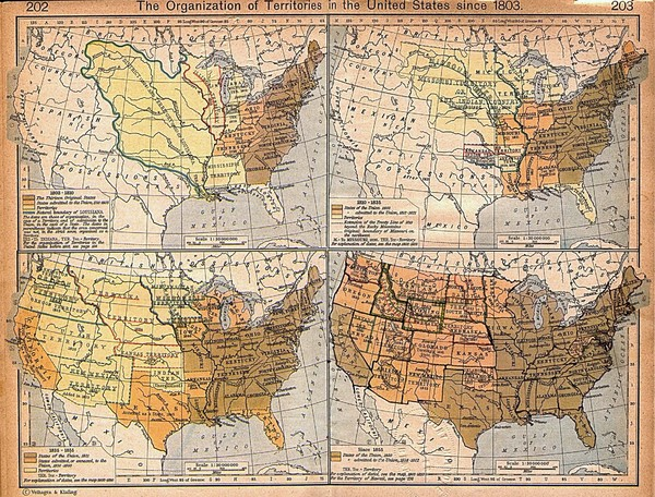 Expansion of United States Territory From 1803 Historical Map
