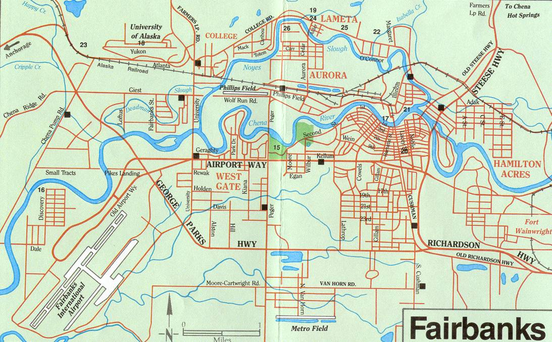 Fairbanks Alaska Map   Fairbanks Alaska • mappery