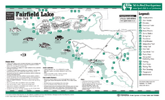 Fairfield, Texas State Park Facility and Trail Map