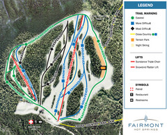 Fairmont Hot Springs Resort Ski Trail Map