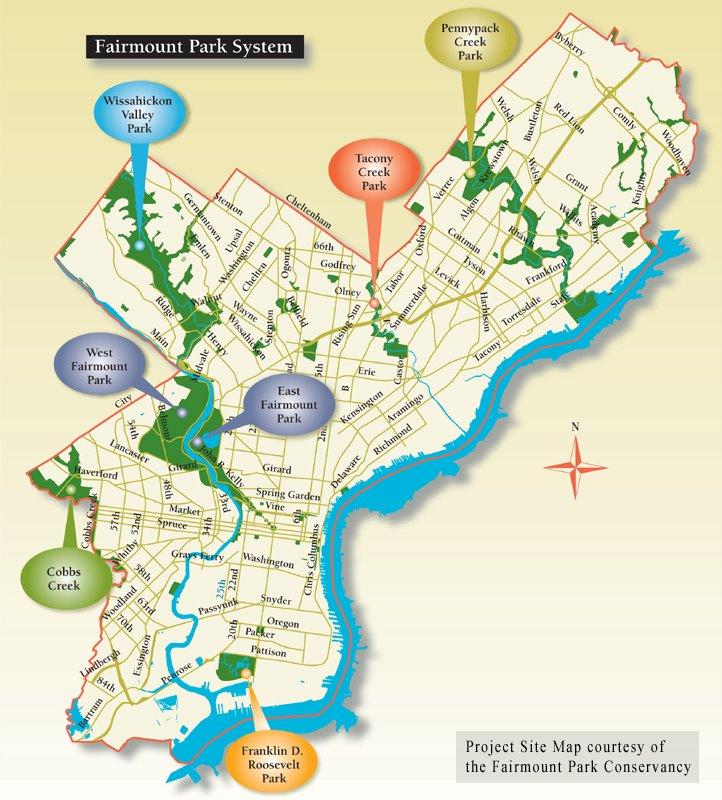 Fairmount Park System Map Fairmount Park • mappery