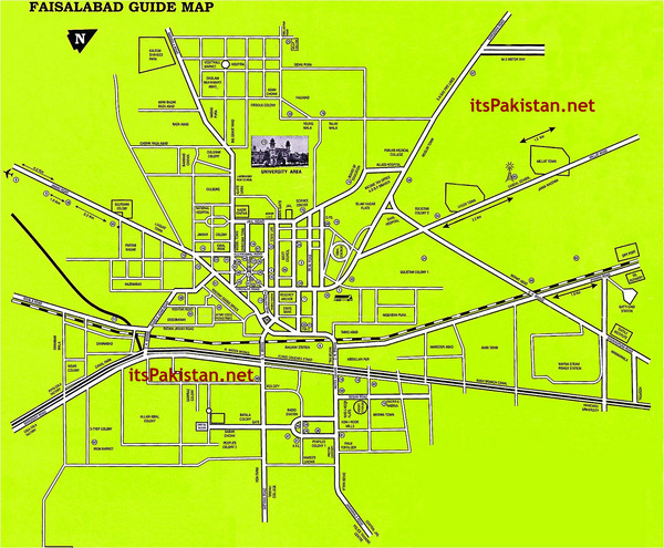 Faisalabad Road Map