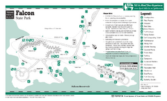 Falcon, Texas State Park Facility and Trail Map