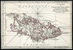 Falkland Islands 1593 Map
