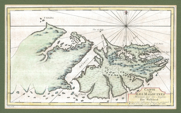 Falkland Islands 1760 Map