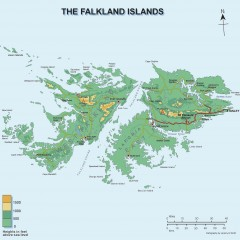 Falkland Islands Elevation Map