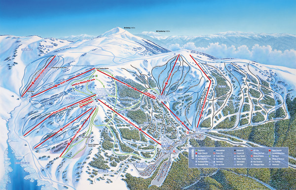Falls Creek Ski Trail Map
