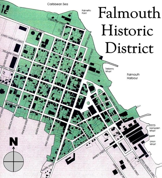 Falmouth Historic District Map • mappery