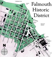Falmouth Historic District Map