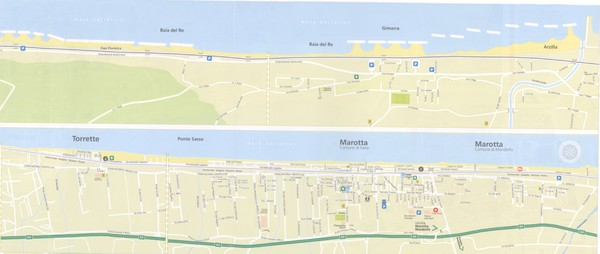 Fano beach suburbs Map