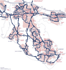 Fareham Busmap Map
