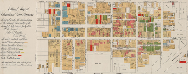 Farwell's Map of Chinatown in San Francisco (1885)