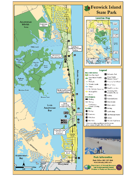 Fenwick Island State Park Map - Fenwick Island State Park Deleware on