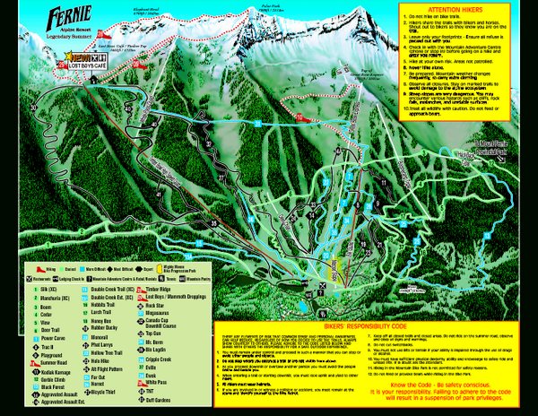 Fernie Alpine Resort 2007 Fernie Summer Map