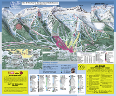 Fernie Alpine Resort Ski Trail Map