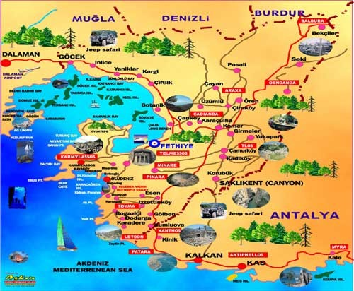 Turkey Map Tourist Attractions – Tourist Attractions Map In Turkey