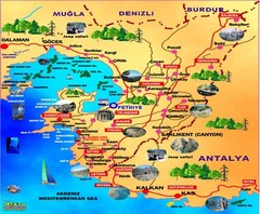 Fethiye guide of tourist map
