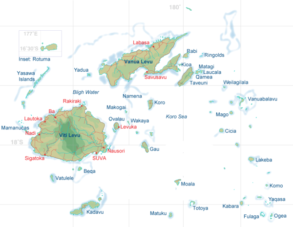 Fiji islands map mappery fullsize fiji islands map gumiabroncs Gallery