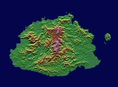 Fiji topographic Map