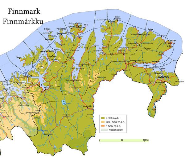 Finnmark County Map
