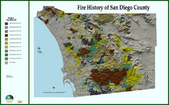 Fire History of San Diego County Map
