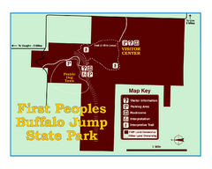First People's Buffalo Jump State Park Map